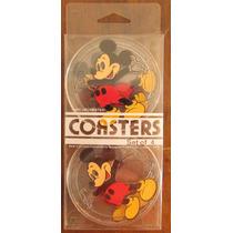 Disney - Mickey - Set De 4 Posavasos De Plastico