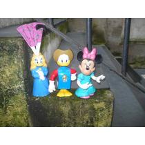 Muñecos Plastico Disney Pato Donald Minnie