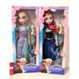 Frozen Muñecas A Pilas Musicales Articuladas 45cm + Olaf 8cm
