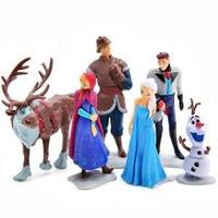 Frozen Blister X 6 Figuras P/adornar La Torta O P/jugar