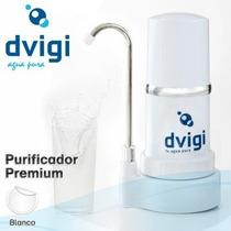 Filtro Purificador De Agua Dvigi Sobre Mesada Blanco C/gtia