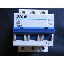 Llave Termica (termomagnetica ) Sica Tripolar 50 Amp
