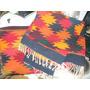 Dos Mantas-alfombras-cubrecamas De Lana Tejida -2 Tamaños-