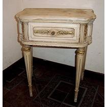 Mesa De Luz Luis Xvi Tapa De Marmol Antigua De Estilo