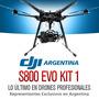 Hexacoptero Dji S800 Evo Gimbal Dron Bateria Gopro Fpv Kit 1
