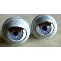 Ojos Moviles Con Pestañas, Para Muñecas Y Artesanias