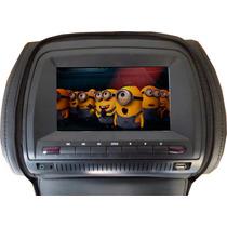 Apoyacabezas 7 Color Negro Tv Digital Dvd Cobertor C/cierre