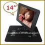 Reproductor Dvd Portatil 14.1 Gigante Joystick 12v Auto 360º