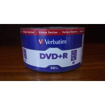 Dvd +r Verbatim X 50 Unidades - 4,7gb - 120min