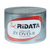 Dvd-r Ridata 4.7gb 8 X O 16x Oferta X50 Unidades