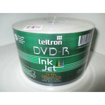 Dvd-r Teltron Ink Jet X 50 Unidades ( Imprimibles)