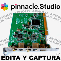 Captura Y Edición Profesional Pinnacle Studio Dv Av Pci V 9