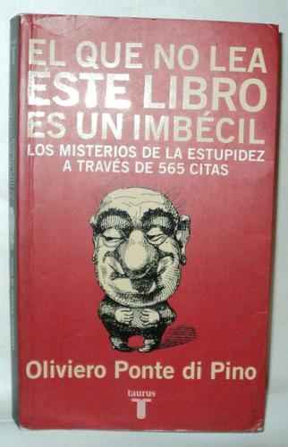 imbecil libro: