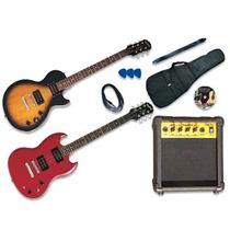 Ff#2 Guitarra Electrica Epiphone Les Paul Ó Sg Amplificador