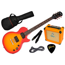 Combo Guitarra Electrica Epiphone By Gibson Les Paul Orange