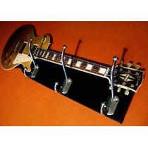 Guitarra Perchero / Portacables Unicos!!! Artixtic Rock