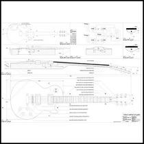 Gibson Les Paul-plano Para Construir-luthier