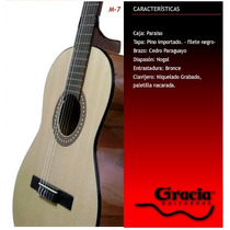 Guitarra Clásica Gracia Modelo M7 Con Funda Acolchada
