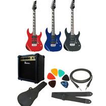 Combo Guitarra Electrica Ibanez Grx70+ross 10w+accesorios