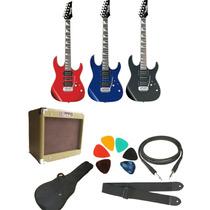 Combo Guitarra Electrica Ibanez Grx70+ross Gv 10w+accesorios