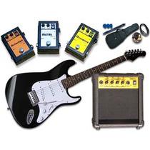 Ff# Guitarra Electrica + Amplificador + 1 Pedal + Acc