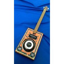 Cigar Box Guitar Square #4 Mic Electric.