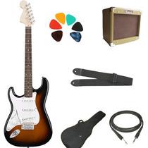 Combo Guitarra Eléctrica Zurda+ross Vintage 10w+accesorios