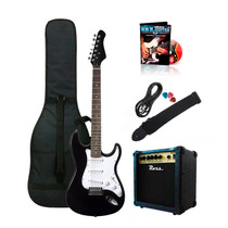 Combo Guitarra Eléctrica + Ampli Ross + Cable Funda Y Correa