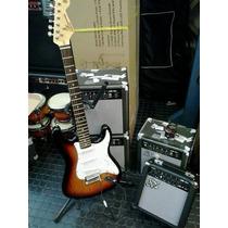 Pack Guitarra Sx Color 3ts + Amplificador Funda Y Accesorios