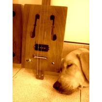 Cigar Box Guitar Calado Tipo Violin (electroacústica)