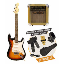 Guitarra Eléctrica Aria Pro 2 + Amplificador + Accesorios