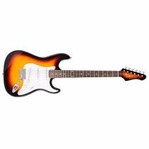 Guitarra Eléctrica Kansas C Palanca Y Cable Varios Colores