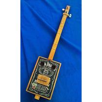 Cigar Box Guitar Viajera Mic Piezo Semi Entrastada