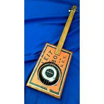 Cigar Box Guitar Square Blues (sin Mic)