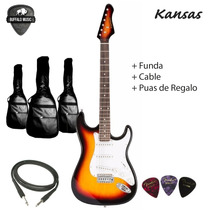 Guitarra Electrica Kansas Stratocaster + Funda + Cable + Pua