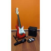 Combo Guitarra Electrica Niño Stratocaster + Amplificador