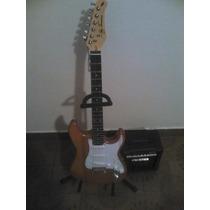 Combo Guitarra Electrica Sjt 300 Y Amplif. Frontier Fr10w