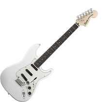 Squier Stratocaster Deluxe Hot Rails Rwn Olympic White