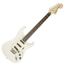 Guit Elec Squier Stratocaster Deluxe Hot Rails Olimpic White