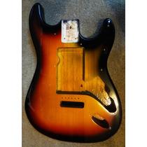 Cuerpo De Guitarra Stratocaster Sunburst En Madera Sólida