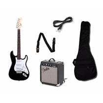 Combo Guitarra Eléctrica Squier + Ampli Fender Frontman +acc