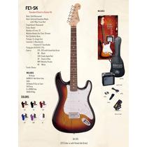 Sx Set Fe1-sk Guitarra + Ampli + Accesorios Music Box Villa