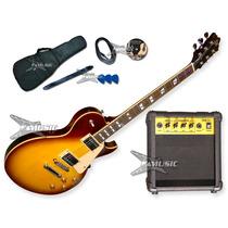 Combo Guitarra Electrica Sx Les Paul + Amplificador 10w Acc