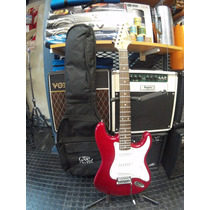 Guitarra Sx Stratocaster Standard Series Roja Car