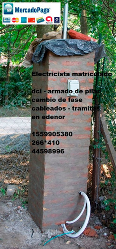 Electricista Matriculado Pilar Dci Medidor Edenor Habilit Mp