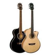 Guitarra Electroacustica Washburn Ea12 Con Funda Acolchada