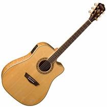 Guitarra Electroacustica Washburn Wd30sce Natural