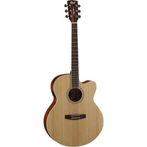 Guitarra Electro Acustica Cort Incluye Funda Cj1f-ns