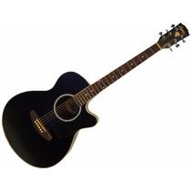 Washburn La245b Guitarra Electroacustica Negra Con Eq
