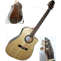 Guitarra Con Corte Electro Acustica Ecualizador 4 B,unica